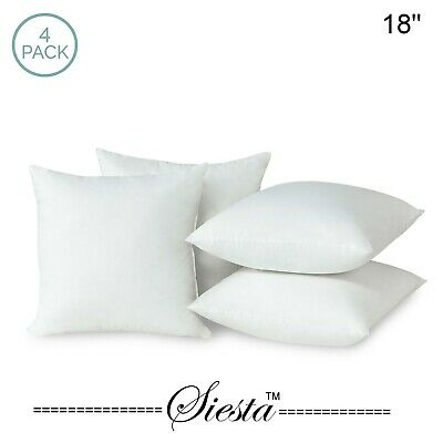Pack of 4 Extra Deep Filed 18x18 Inches Cushion Pads Inserts Fillers Scatters a