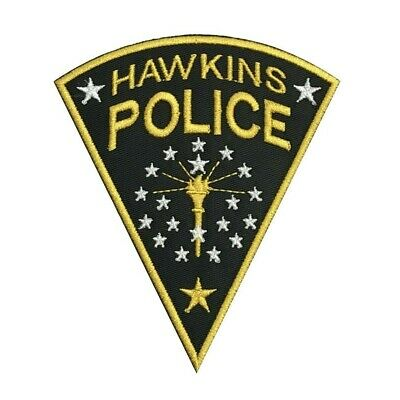 Stranger Things Hawkins Police Embroidered Patch Jim Hopper Cosplay Iron On