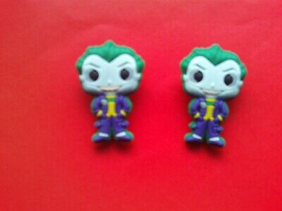 2 The Joker jibbitz crocs shoe charms wrist hair loom bands cake toppers