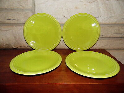 Fiesta 7 1/4 Salad Plate Lemongrass  set of 4  NEW Never Used Fiestaware