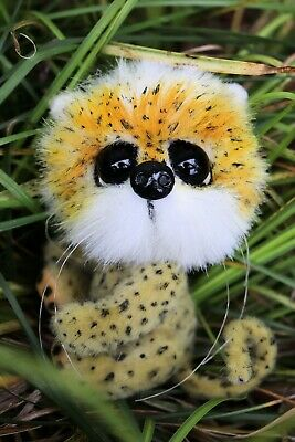 Artist Polar Teddy Bear Leopard  Mini OOAK.