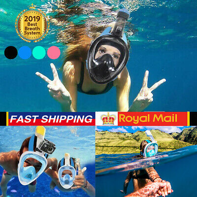 Full Face Snorkel Mask Swimming Diving Scuba Adult Kids For GoPro Anti Fog 2019