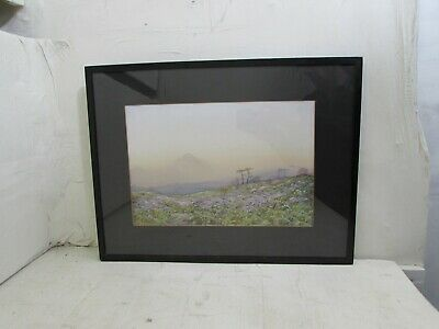 Antique Early 20th Century Watercolour Painting, Landscape Scene, Signed Frier?