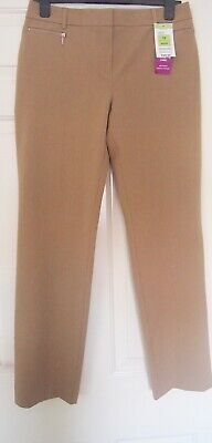 Marks & Spencer Camel Cigarette Pant with Stretch Size 12 Short NWT  Unpacked