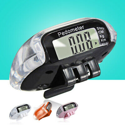 Digital Pedometer Walking Step Distance Calorie Counter Run Fitness Belt Clip