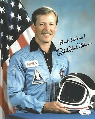 "Robert ""Hoot"" Gibson signed NASA Astronaut Pilot 8x10 Photo Best Wishes!- JSA"