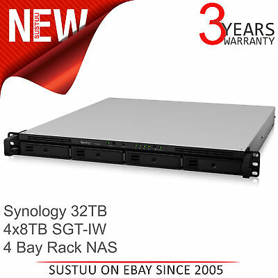 Synology RS818+ 32TB (4 x 8TB SGT-IW) 4 Bay Network Attached Storage Rack Unit