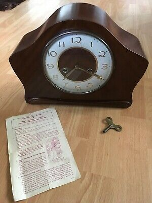 Vintage 1950's Smiths 8 Day Striking Clock Floating Balance Escapement British