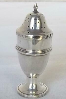 Fine Antique Solid Silver Edwardian Urn Shaped Pepper / Pepperette Chester 1908.