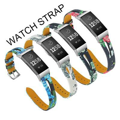 Stylish Band Watch for Wristband Charge3 Fitbit Leather Hollow Replacement Strap