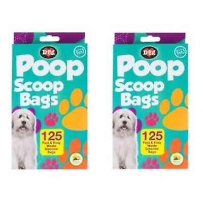 Dog Poo Poop Bags Premium Scented Pet Pooper Scooper Bag Dog Waste Handles x250