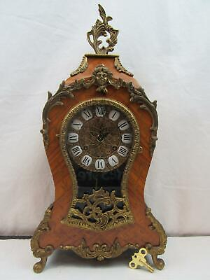 Franz Hermle Boulle Clock w/ 2 Bell Chime - Fully Functional & Gorgeous