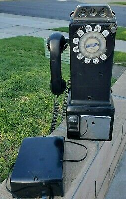 Vintage 3 Slot Payphone With Bell Ringer Needs Tlc Western Electric 233G