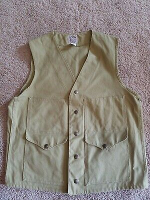 Vintage Cc Filson Canvas Hunting Vest Size Small 36 Made In Usa Nice  Lot 8