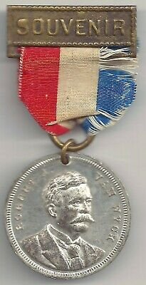 ROBERT A. VAN WYCK 1888 Souvenir Medal & Ribbon Inauguration of Greater New York