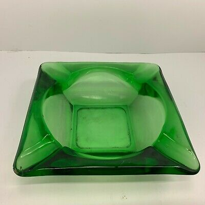 Vintage Green Ashtray