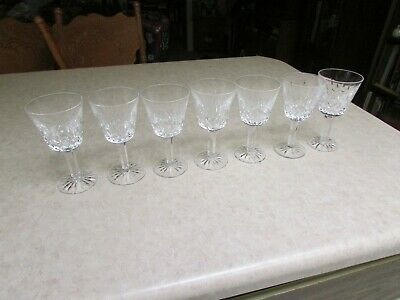 """(7) 5 1/2"""" Waterford Crystal Lismore Water Goblets Excellent !!!!!!!!!!!!!!!!!!!"""