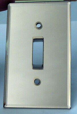NEW Mirrored Single Beveled Edge Light Switch Plate Cover Bronze Finish Toggle