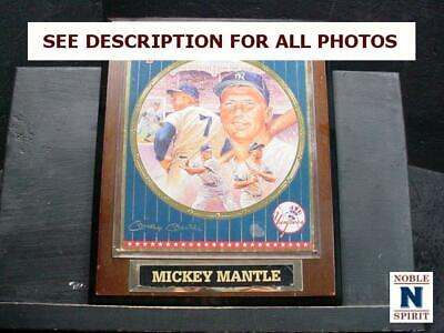 NobleSpirit  NO RESERVE (3970) Mickey Mantle Limited Edition Collectors Plaque