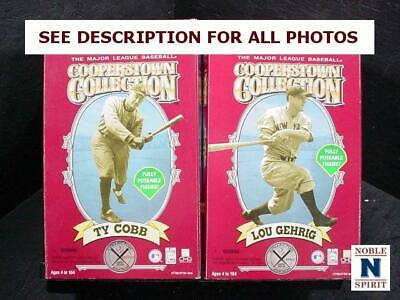 NobleSpirit  NO RESERVE (3970) 2x Cooperstown Collection Figures w/ Lou Gehrig