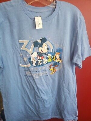 NEW Disney Hollywood Studios 30th Anniversary 2019 T-Shirt Blue MEDIUM