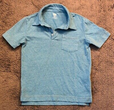 OLD NAVY Boys Heather Aqua Blue Polo Shirt (Size XS - 5)