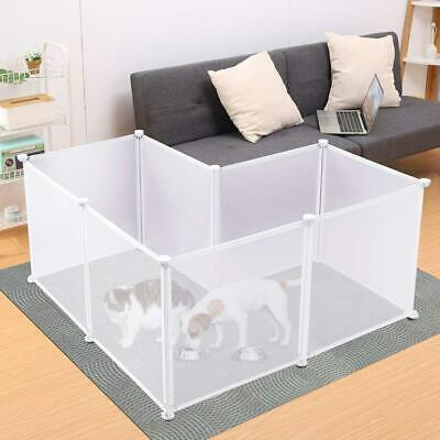 Rackaphile Plastic Pet Playpen Portable Fence for Small-Sized 8 panels