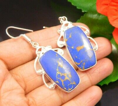 A++ Dashing Sodalite .925 Silver Plated Handmade Earring Jewelry JC942