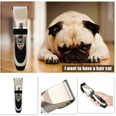fessional Dog Grooming Kit Pet Cat Fur Hair Cordless Clipper Trimmer-Shaver P2M6