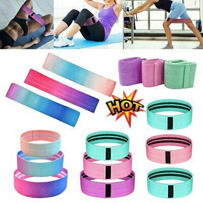 3Pcs Resistance Hip Circle Booty Band Loop Glute Leg Squat Gym Exercise FitnessR