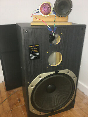 "pioneer / tad  / jbl custom horn speakers - 15"" bass - 3 way unfinished project"