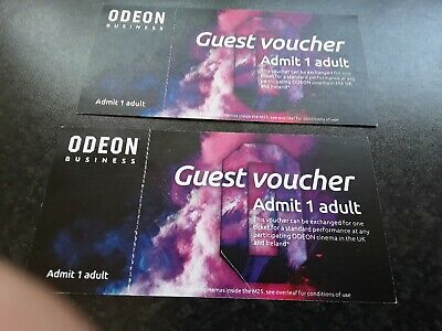 2 ODEON CINEMA TICKETS in the UK, excluding cinemas inside the M25.