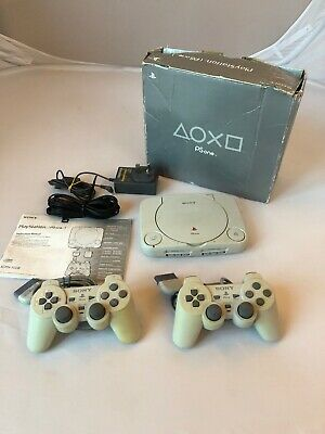 Playstation 1 Psone Slim Console Boxed Tested Working Bundle  Please Read