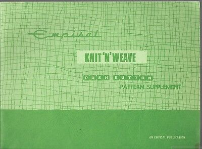 Empisal knit n weave push button pattern supplement book machine knitting book