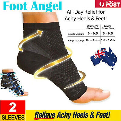 AU Anti-Fatigue Foot Angel Compression Sleeves Leg Ankle Support Brace Socks New