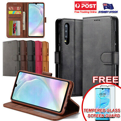 For Huawei P30 Pro & P30 Lite Premium Leather Wallet Flip Phone Case Cover SYD