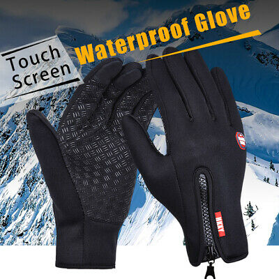 Men Women Winter Warm Windproof Waterproof Thermal Gloves Touch Screen Mittens