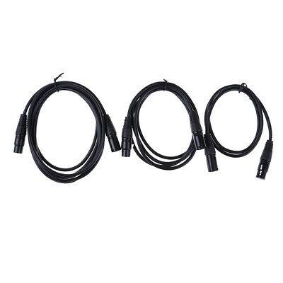 XLR 3-Pin Male to Female Microphone Audio Mic Extension Cord Cable Black PJU