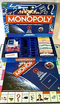 Monopoly Board Game MTG Edition Classic Property Trading Complete FREE UK POST