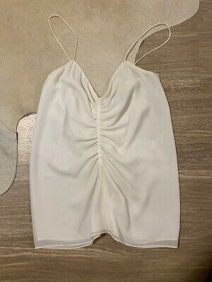 Camilla And Marc Ladies White Morpheus Ruched Cami Top