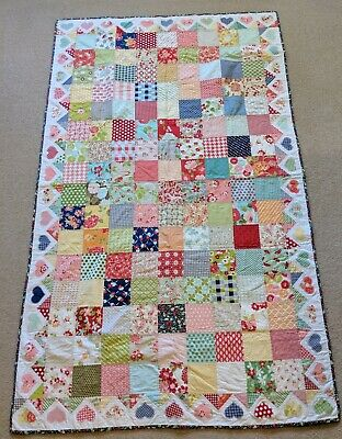 Handmade Patchwork Quilt - Girl Baby Single Bed Pink