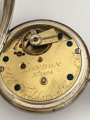 Antique Small Silver Pocket Watch Signed G.E. Frodsham London No.1974