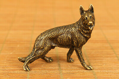rare chinese old bronze hand casting wolf statue figure collectable gift