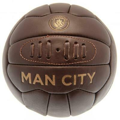 Manchester City Man Fc Retro Heritage Football Size 5 Leather Ball