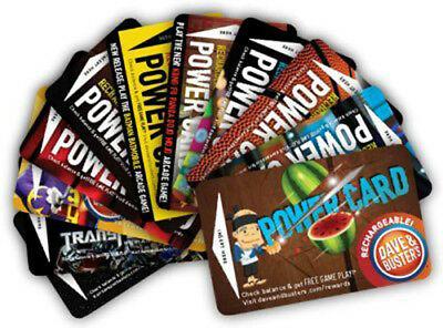 Dave & Buster's power cards w/ 22,000+ redemption tickets Winners Circle Prize