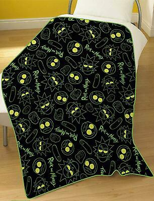 Official Rick & Morty Electrick Fleece Blanket Bed Throw Matches Bedding