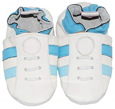 M243 BabySteps Baby Steps  Blue Sneakers Toddler Boy Suede Leather Large K6