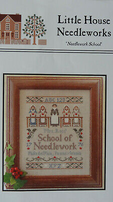 'Needlework School' by Little House Needleworks Cross stitch chart New