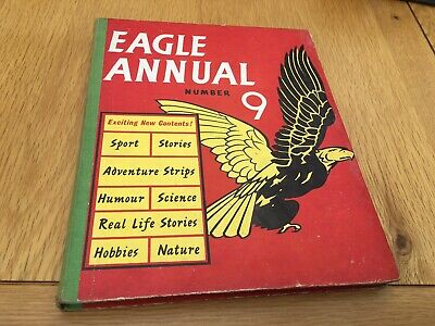 Vintage Uk Book - Eagle Annual No 9 - Dan Dare, Storm Nelson, Harris Tweed -1960