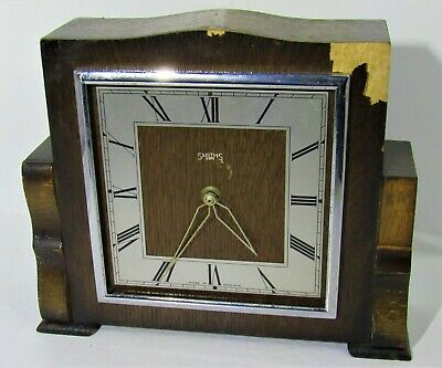 1930's Smiths 8 Day Art Deco Mantle Clock To Restore